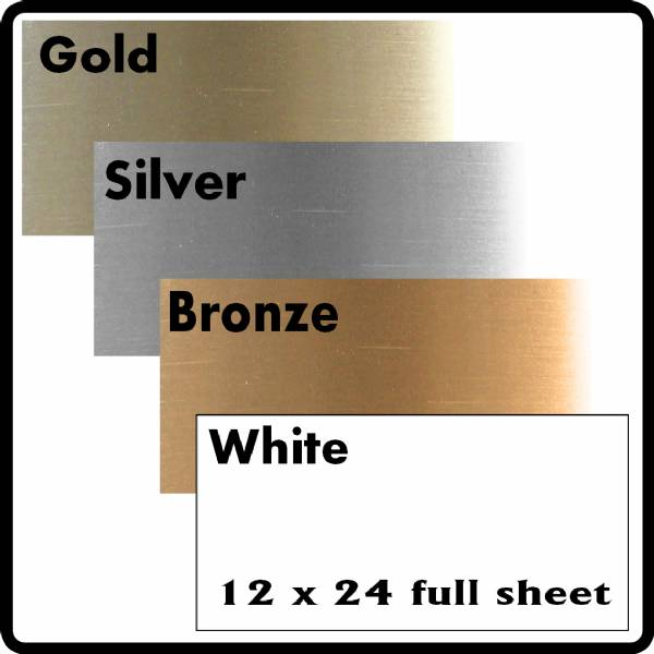 "12"" X 24"" Sheet Sublimation Metal 4 Colors"