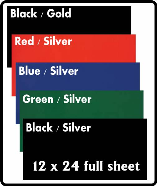 "12"" X 24"" Sheet Laser-IT Aluminum 5 Colors"