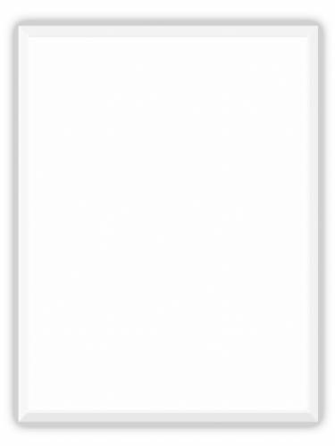 "9"" x 12"" White AcrylaStone Indoor/Outdoor Plaque Blank"