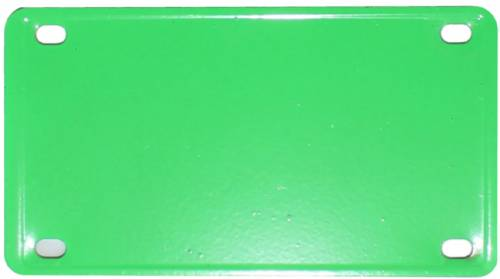 "2 1/4"" X 4"" Lime Green Laser Engravable Stainless Steel Plate"