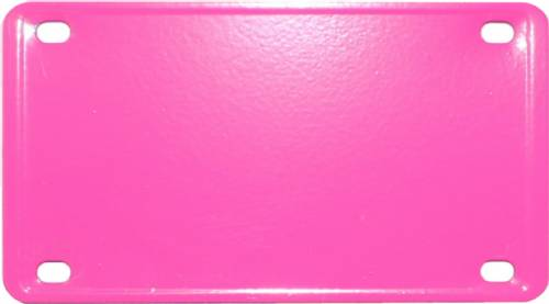 "2 1/4"" X 4"" Pink Laser Engravable Stainless Steel Plate"
