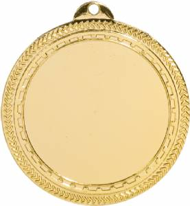 "2 3/4"" Bright Finish 2"" Insert Holder Award Medal"