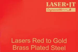 Laser-IT Brass Plated Steel 4 Colors - Cut to size #3