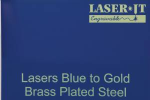 Laser-IT Brass Plated Steel 4 Colors - Cut to size #4