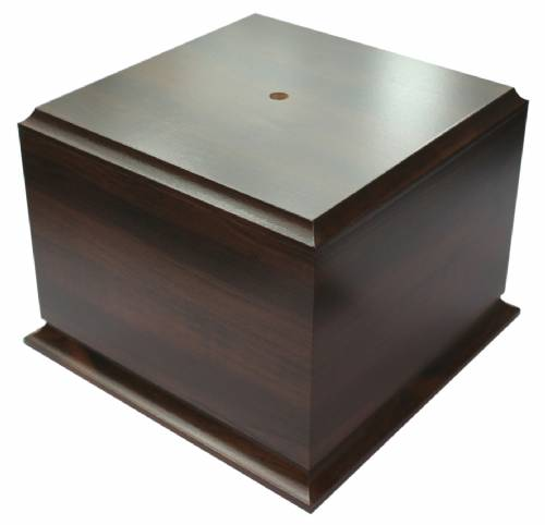 "Cherry Finish Cup Trophy Base 5"" H X 6 1/2"" W"