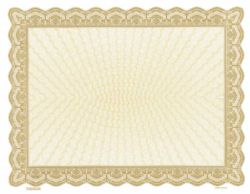 Gold Bison Blank Certificate