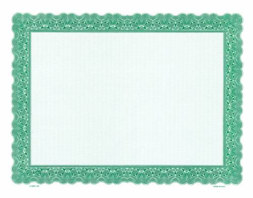 Green Stealth Series Blank Certificate