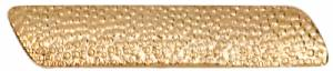 Gold Large Service Bar Lapel Chenille Insignia Pin - Metal
