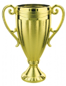 "Gold 4 5/8"" Plastic Trophy Cup"