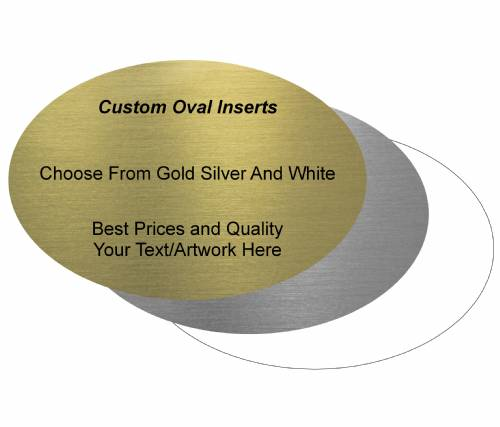 "Custom 2"" X 3"" Oval Trophy Insert"