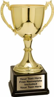 "12 3/4"" Gold Zinc Metal High Quality Trophy Cup"