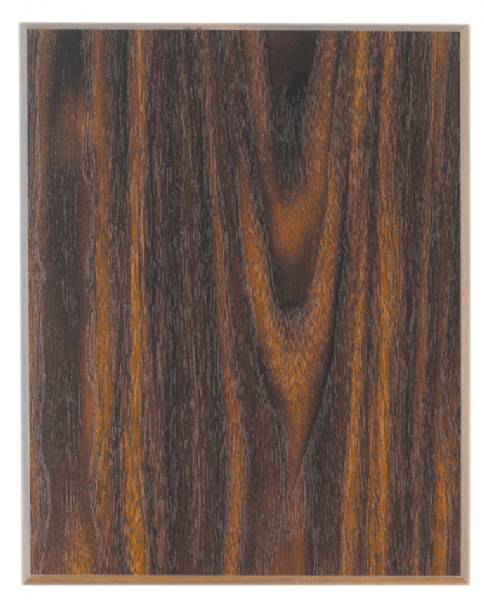"10 1/2"" x 13"" Walnut Finish MDF Plaque Blank US Made"