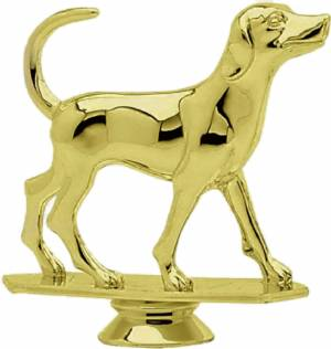 "Gold 4"" Fox Hound Dog Trophy Figure"