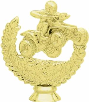 "Gold 4 1/4"" Quad Racer Trophy Figure"