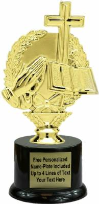 "7 1/2"" Wreath Religious Trophy Kit with Pedestal Base"