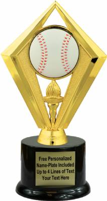 "7 1/2"" Color Baseball Trophy Kit with Pedestal Base"