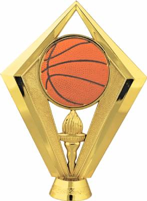 "Gold 5-1/2"" Color Basketball Trophy Figure"