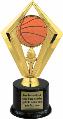 "7 1/2"" Color Basketball Trophy Kit with Pedestal Base"