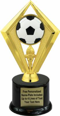 "7 1/2"" Color Soccer Ball Trophy Kit with Pedestal Base"