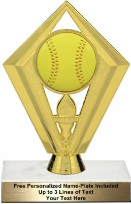 "6 1/4"" Color Softball Trophy Kit"
