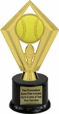 "7 1/2"" Color Softball Trophy Kit with Pedestal Base"
