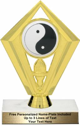 "6 1/4"" Color Yin Yang Karate Trophy Kit"