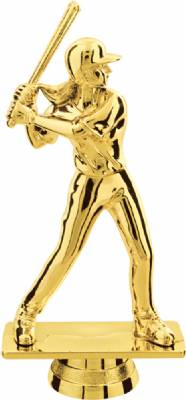 "Gold 5-1/4"" Female Softball Trophy Figure"