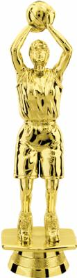 "Gold  5-1/2"" Female Basketball Trophy Figure"