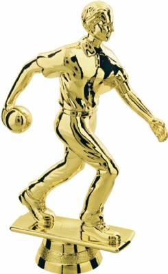 "Gold  5"" Male Bowler Trophy Figure"
