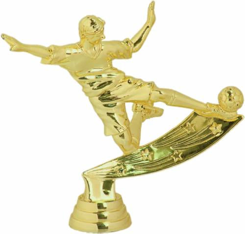 "4 3/4"" Male Soccer Action Figure Gold"