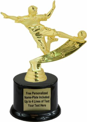 "6 3/4"" Male Soccer Action Trophy Kit with Pedestal Base"
