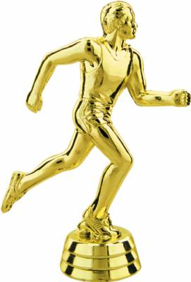 "Gold 4-3/4"" Male Track Trophy Figure"