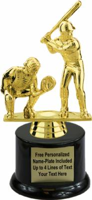 "7"" Male Double Baseball Trophy Kit with Pedestal Base"