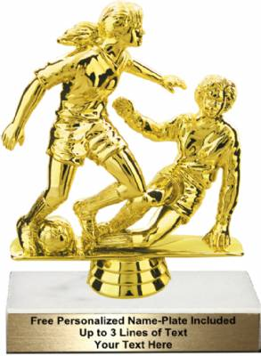 "5 3/4"" Female Double Action Soccer Trophy Kit"
