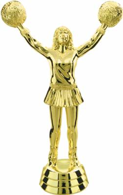 "Gold 5 1/2"" Cheerleader Trophy Figure"