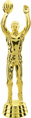 "Gold  6-1/4"" Male Basketball Trophy Figure"
