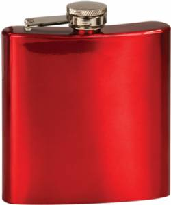 6 oz. Engraveable Stainless Steel Flask - Choose from 7 Colors #3