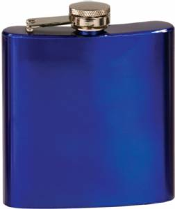 6 oz. Engraveable Stainless Steel Flask - Choose from 7 Colors #4