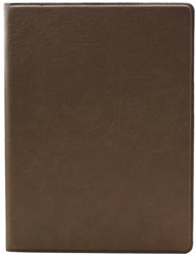 "9 1/2"" x 12"" Dark Brown Leatherette Portfolio with Notepad"
