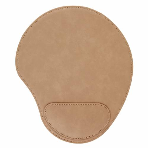 Light Brown Leatherette Mouse Pad