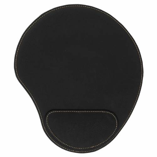 Black & Gold Leatherette Mouse Pad
