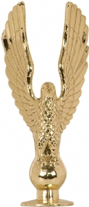 "Gold Metal Eagle 2 1/4"" Trophy Trim Piece"