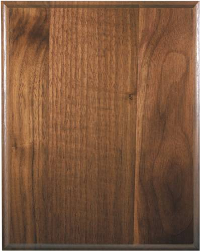 5 X 7 Genuine Walnut Plaque Blank Cove Edge
