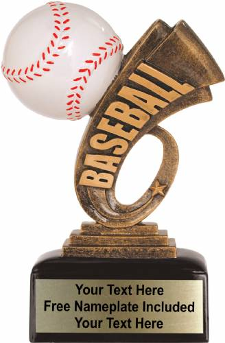 "6"" Baseball Trophy Headline Series Resin"