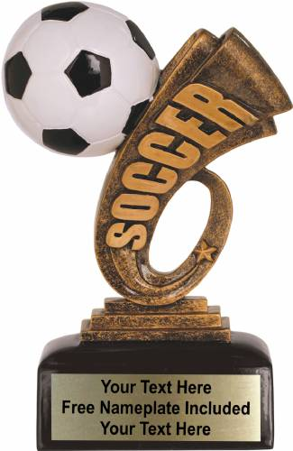 "6"" Soccer Trophy Headline Series Resin"