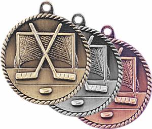 High Relief Hockey Award Medal