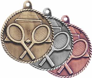 High Relief Tennis Award Medal