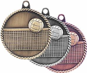 High Relief Volleyball Award Medal