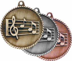 High Relief Music Award Medal