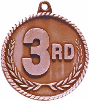 High Relief 3rd Place Award Medal